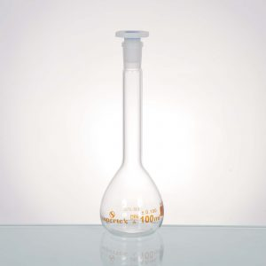 Flasks, Wide Mouth Volumetric With Interchangeable PP Stopper ,Class A,With Batch Certificate